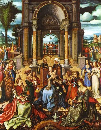 Virgin and Child with Saints | Hans Holbein the Elder | Oil Painting