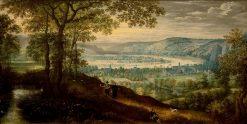 Landscape near Dinant | Lucas van Valckenborch | Oil Painting