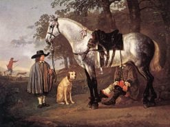 Grey Horse in a Landscape | Aelbert Cuyp | Oil Painting