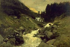 Waterfall at Cauteret | Charles Francois Daubigny | Oil Painting