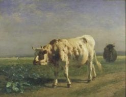 The White Bull | Constant Troyon | Oil Painting