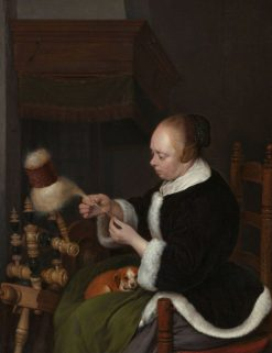 The Spinner | Gerard ter Borch | Oil Painting
