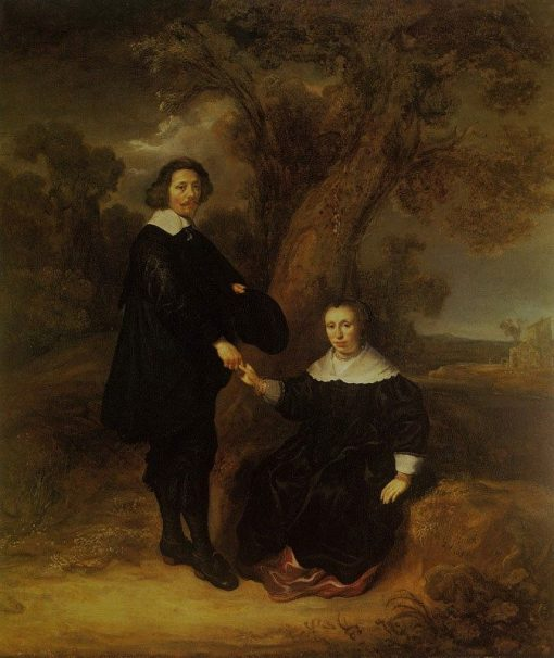 Portrait of Dirck Graswinckel and His Wife Geertruyt van Loon | Govaert Flinck | Oil Painting
