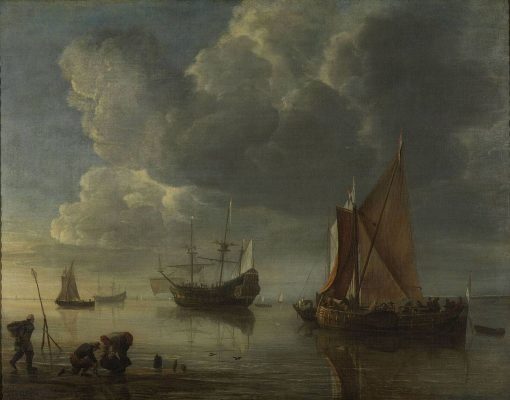 A Calm Sea | Hendrick Jacobsz. Dubbels | Oil Painting