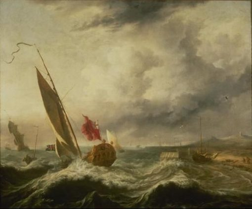 Ships in a Storm | Hendrick Jacobsz. Dubbels | Oil Painting
