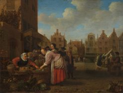 The Grote Markt in Rotterdam | Hendrik Martensz. Sorgh | Oil Painting