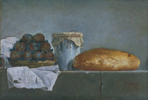 Still Life with Fruit and Bread | Henri Horace Roland Delaporte | Oil Painting