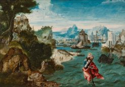 Landscape with Saint Christopher | Herri met de Bles | Oil Painting