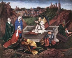 The Three Marys at the Sepulchre | Hubert Van Eyck | Oil Painting