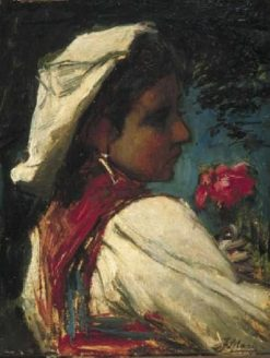 Italian Girl | Jacob Maris | Oil Painting