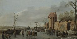 A Scene on the Ice | Jan van Goyen | Oil Painting