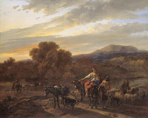 Southern Landscape with Shepherds