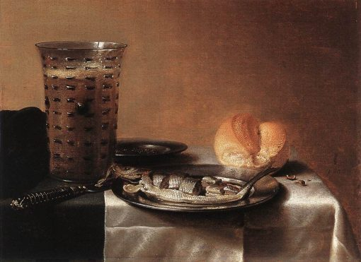 Still Life with Herring | Pieter Claesz | Oil Painting