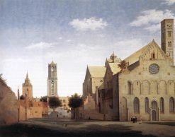 St Mary's Square and St Mary's Church at Utrecht | Pieter Saenredam | Oil Painting