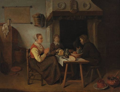 Prayers Before the Meal | Quiringh van Brekelenkam | Oil Painting
