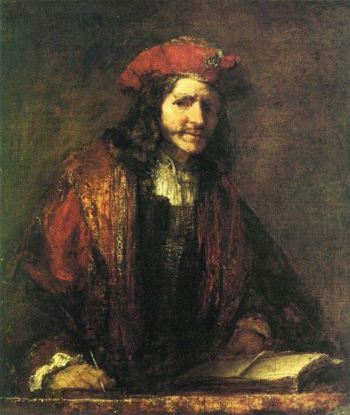 An Evangelist Writing | Rembrandt van Rijn | Oil Painting