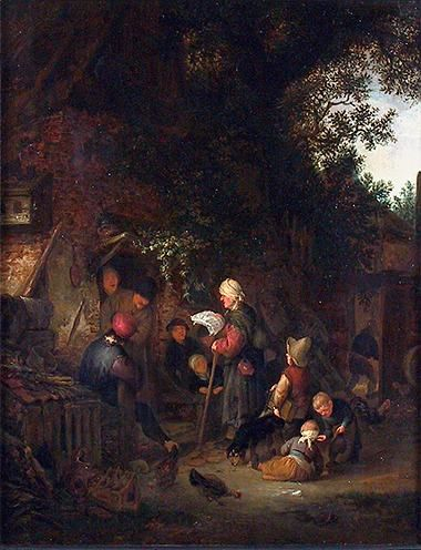 A Meeting of Villagers | Adriaen van Ostade | Oil Painting