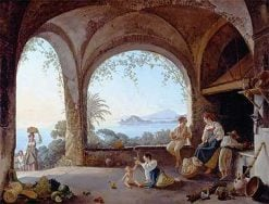 Loggia in a Neapolitan House | Franz Ludwig Catel | Oil Painting