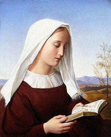 A Girl Reading | Friedrich Wilhelm Schadow | Oil Painting