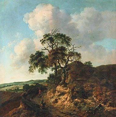 Landscape with Figures   Jan Wijnants   Oil Painting