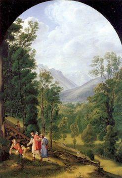 Landscape near Berchtesgaden | Johann Heinrich Ferdinand Olivier | Oil Painting