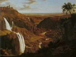 Waterfalls at Tivoli | Johann Martin von Rohden | Oil Painting