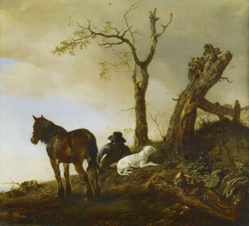 Horse and Dismounted Rider | Philips Wouwerman | Oil Painting