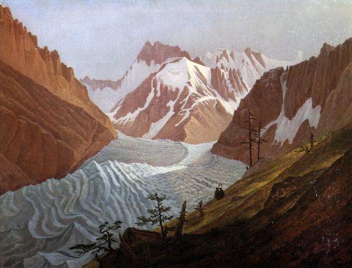 Glacier at Chamonix | Carl Gustav Carus | Oil Painting