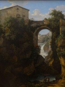 View of Tivoli and the San Roco Bridge | Johann Christian Reinhart | Oil Painting