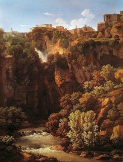 Waterfall at Tivoli | Johann Christian Reinhart | Oil Painting