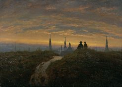 View of Dresden at Sunset | Carl Gustav Carus | Oil Painting