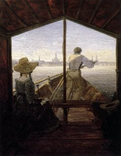 A Gondola on the Elbe near Dresden | Carl Gustav Carus | Oil Painting