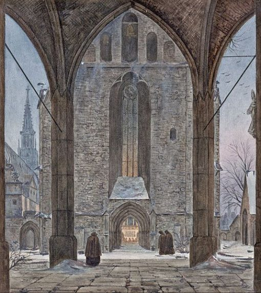 Cathedral in Winter | Ernst Ferdinand Oehme | Oil Painting