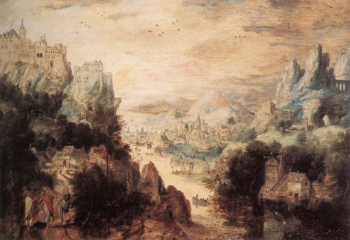 Landscape with Christ and the Men of Emmaus | Herri met de Bles | Oil Painting
