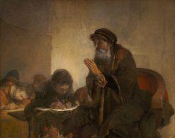 Homer Dictating to Scribes | Aert de Gelder | Oil Painting