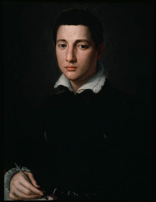 Portrait of a Young Man Writing | Alessandro Allori | Oil Painting
