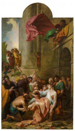 Devout Men Taking the Body of Saint Stephen | Benjamin West | Oil Painting