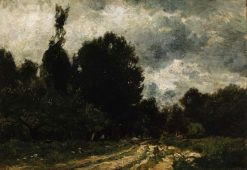Road through the Forest | Charles Francois Daubigny | Oil Painting