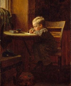 Writing to Father | Eastman Johnson | Oil Painting