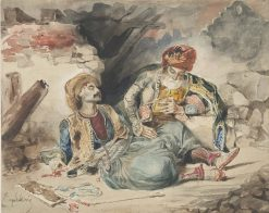The Dying Turk | Eugene Delacroix | Oil Painting