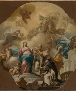 The Virgin Presenting the Portrait of Saint Dominic to the Friar of Soriano | Francesco de Mura | Oil Painting