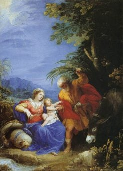The Rest on the Flight into Egypt | Giuseppe Cesari | Oil Painting
