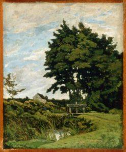 Landscape with an Old Dam | Henri Joseph Harpignies | Oil Painting