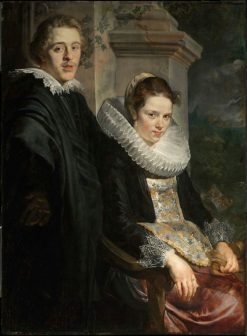 Portrait of a Young Married Couple   Jacob Jordaens   Oil Painting