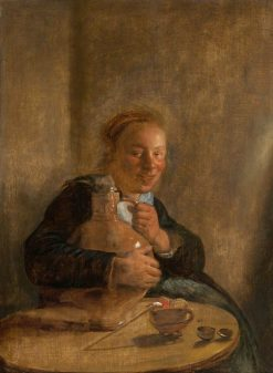Woman Holding a Jug | Jan Miense Molenaer | Oil Painting