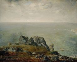 Cliffs at Gruchy | Jean Francois Millet | Oil Painting