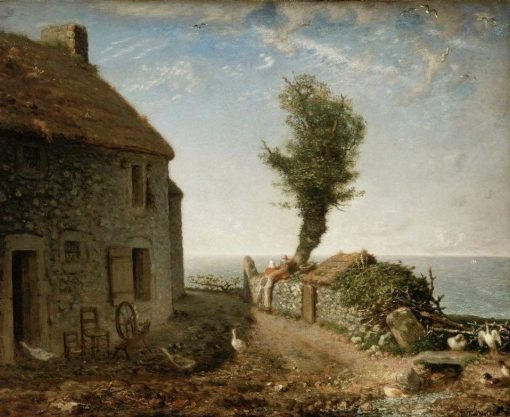 End of the Hamlet of Gruchy | Jean Francois Millet | Oil Painting