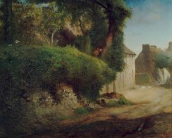 Millet's Family Home at Gruchy   Jean Francois Millet   Oil Painting
