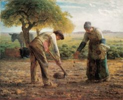 Potato Planters   Jean Francois Millet   Oil Painting