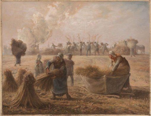 Buckwheat Harvest | Jean Francois Millet | Oil Painting